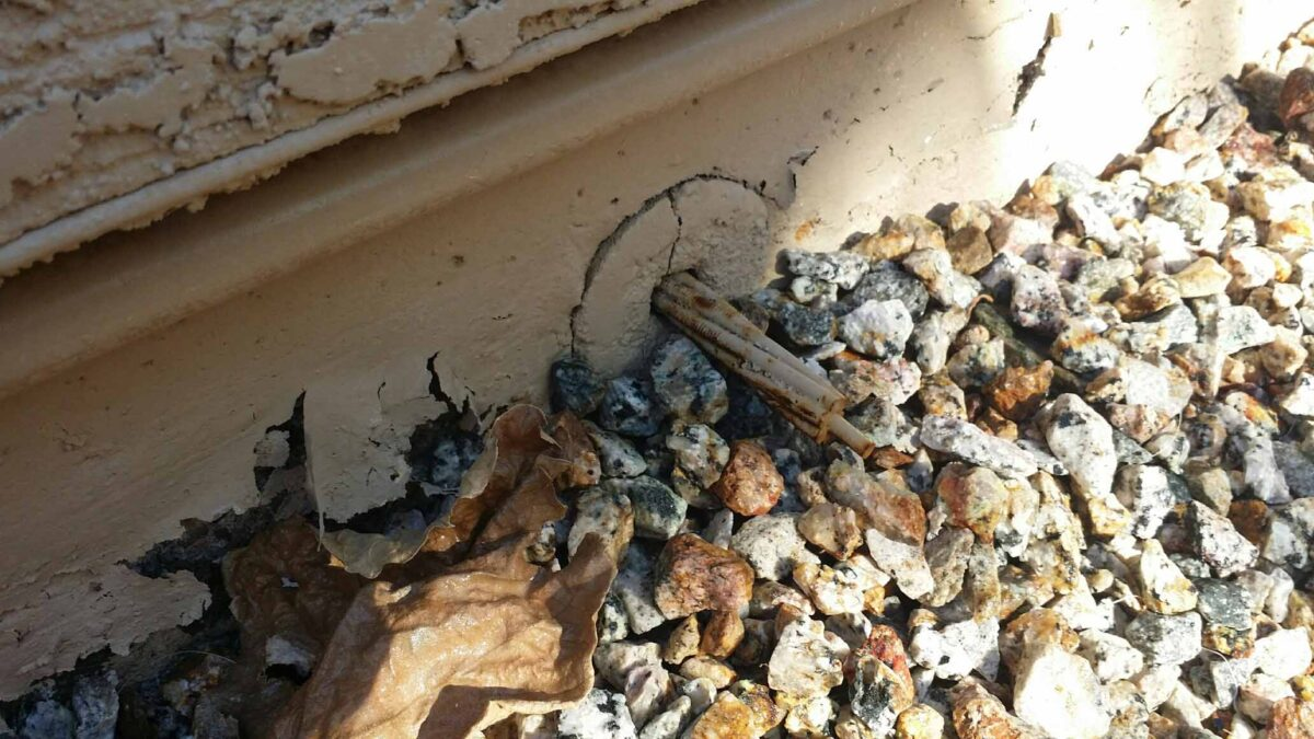 A sure sign of a Post Tension Slab ⋆ ProBest Pest