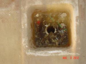 restaurants floor drain messy